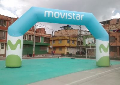 ARCO INFLABLE MOVISTAR 1