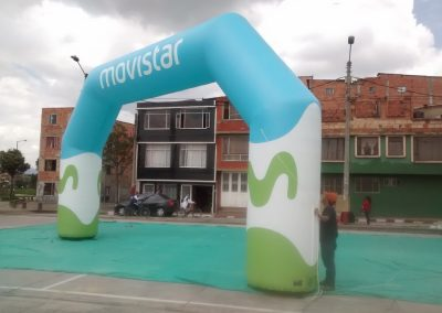 ARCO INFLABLE MOVISTAR 2