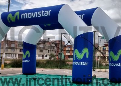 ARCO INFLABLE MOVISTAR - INCENTIVE