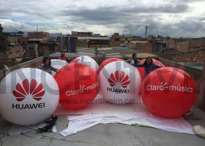 ESFERAS DE 1.5 MTS DE CLARO SALVADOR - INCENTIVE INFLABLES