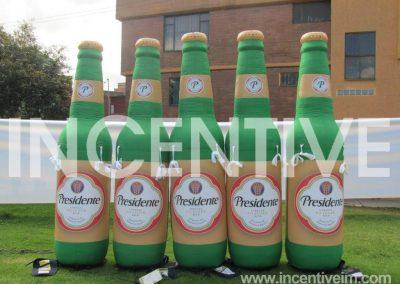 Réplica de Botellas Inflables Presidente-INCENTIVE